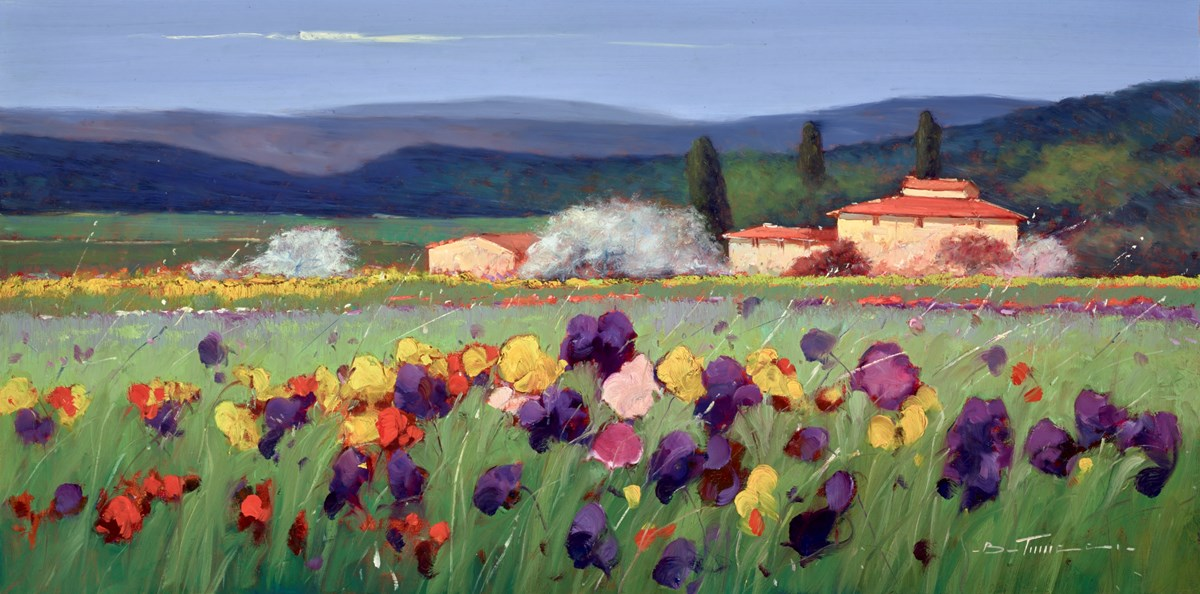 Campi Verdi VI by bruno tinucci -  sized 39x20 inches. Available from Whitewall Galleries